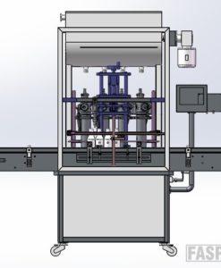 FT4T-4G-500 4х головочный линейный блок розлива