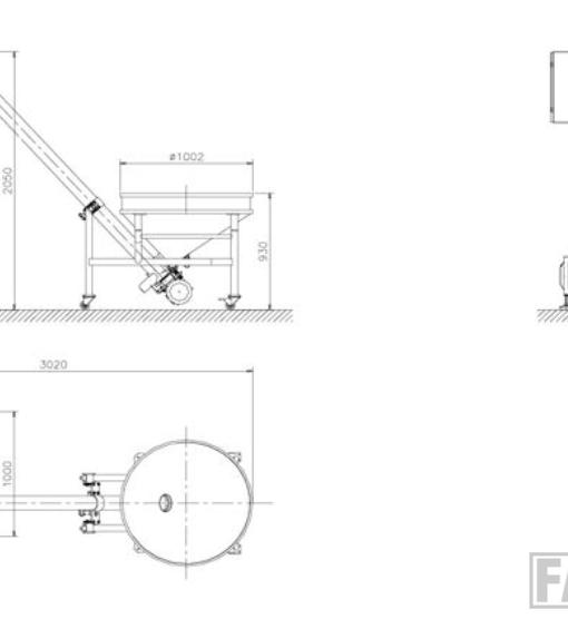Схема полуавтоматического шнекового дозатора